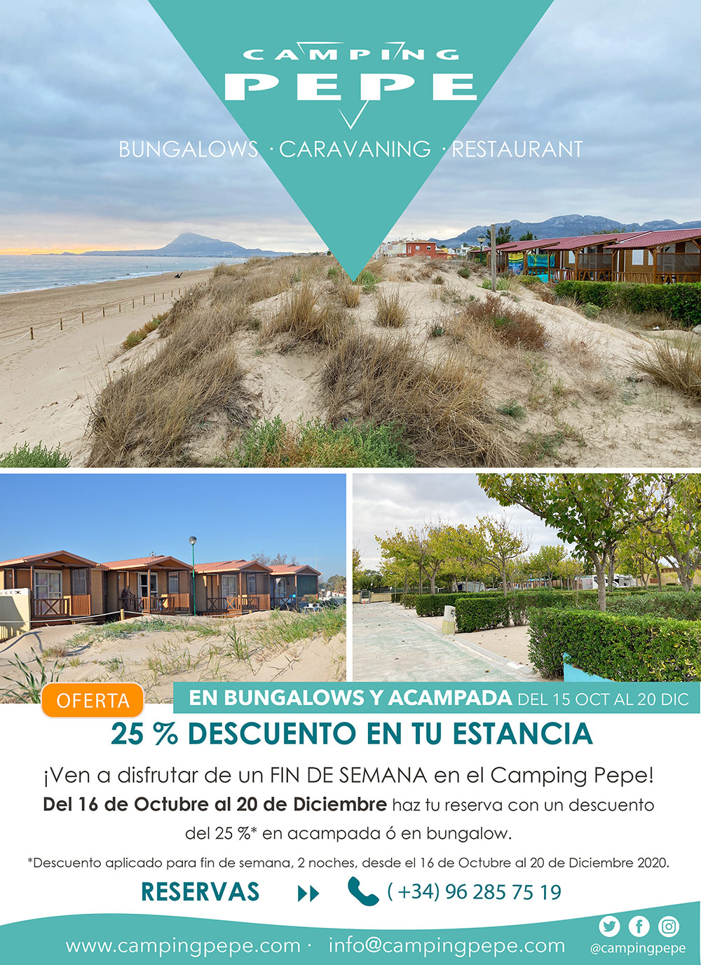camping pepe descuento finde